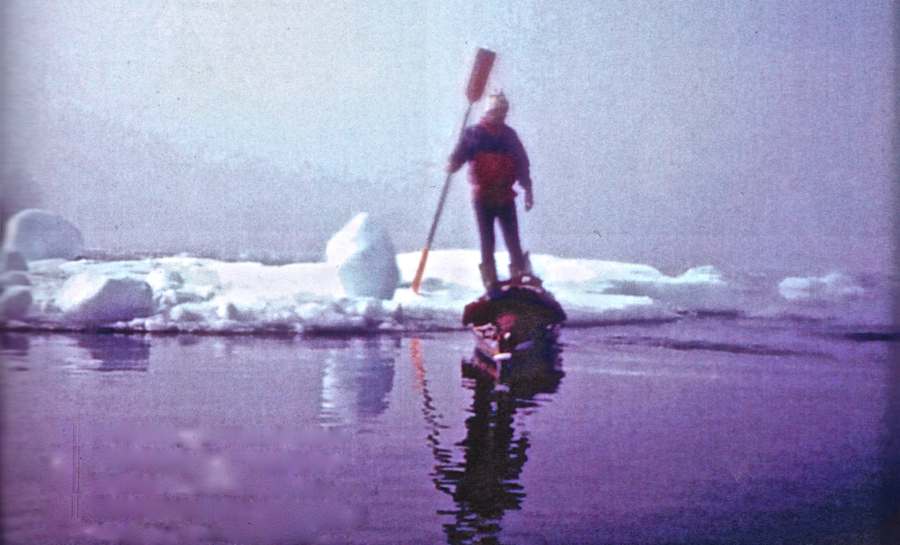 Earle Kayaking Greenland 1986